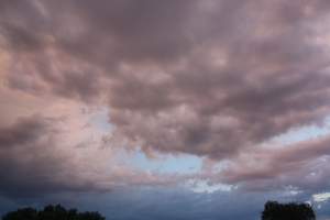 Some of the clouds were just beautiful, with a color that was unusual.